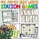 Sight Word Practice Literacy Station Games: Preprimer