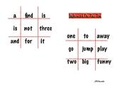 Pre-primer Sight Word Tic-Tac-Toe