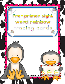 Pre-primer Sight Word Tracing Cards
