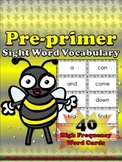 Pre-primer Sight Word Vocabulary - 40 High Frequency Word Cards - King Virtue