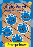 Pre-primer Sight Words -- Dino Foot Prints Hopping Game