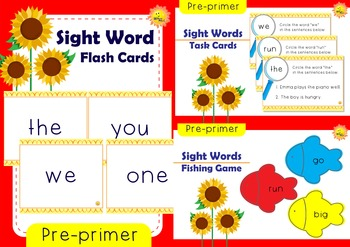 Pre-primer Sight Words: GROWING BUNDLE