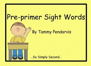 Pre-primer Word List