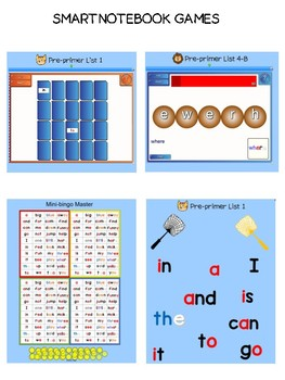 Pre-primer dolch sight word sample of games - List 1