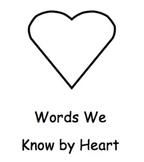 Pre-primer heart words booklet (Dolce List)
