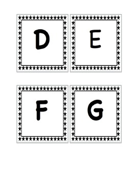 Pre-primer to 3rd Grade Black and White Star Word Wall Set