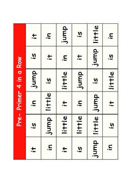 Pre-primer to Third Dolch Word Dice game