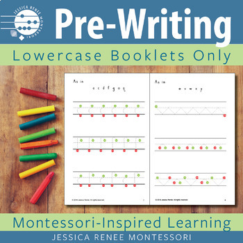 Pre-printing Skills Booklet Lowercase Strokes Only (Easy Assembly)