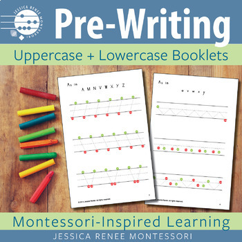 Pre-printing Skills Booklets Capital and Lowercase Strokes (Easy Assembly)