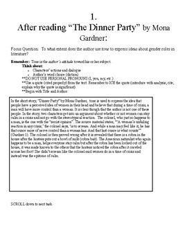"""Pre-reading for """"The Lottery"""" by Shirley Jackson : Gender Roles in Literature"""