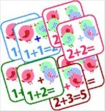 Pre-school Kindergarden Homeschooling Addition Cards. Prin