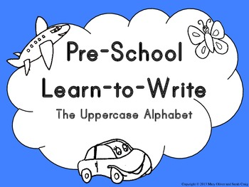Preschool Learn to Write The Uppercase Alphabet