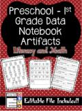 Preschool & Primary Data Notebook Artifacts