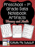 Preschool & Primary Data Notebook Artifacts