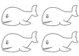 Pre-school color page 4 whale fish