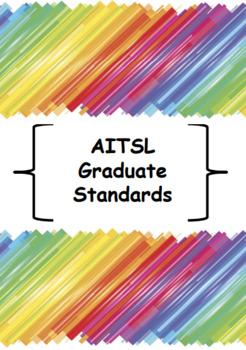 Pre-service Teacher Folder Dividers & AITSL Standards Dividers - RAINBOW