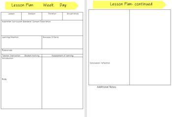 Pre-service Teacher Prac Planner 2.0