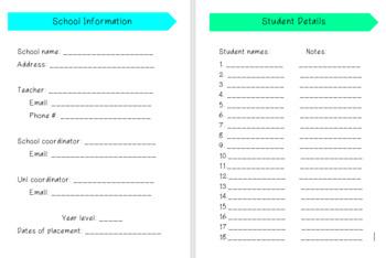 Pre-service Teacher Prac Planner 6.0