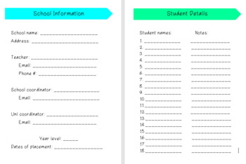 Pre-service Teacher Prac Planner 7.0
