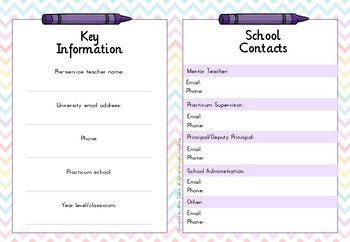 Pre-service teacher prac planner (Australian - Primary)