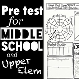 Pre-test for Middle School and Upper Elem