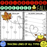 Prewriting and Tracing Lines worksheets Fall