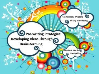 Pre-writing Strategies & Activities PowerPoint