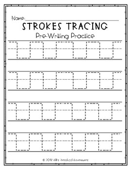 Pre-writing Strokes Tracing