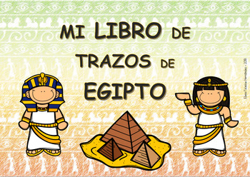 Pre-writing book - Egypt / Trazos Egipto