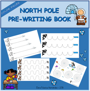 Pre-writing book - North Pole / Trazos Polo Norte