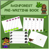 Pre-writing book - Rainforest / Trazos Selva
