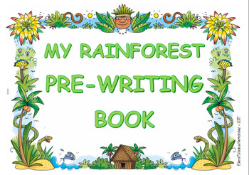 Pre-writing book - Rainforest / Trazos Selva