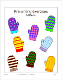 Pre-writing exercises and mitten craft