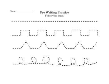 Pre writing practice sheet