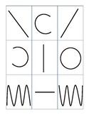 Pre-writing strokes cards