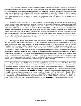 PreAP/AP Annotated Text: Familias y Comunidades - Biblioburro de Colombia