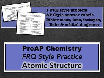 Chemistry atoms teaching resources teachers pay teachers preap chemistry atomic structure frq preap chemistry atomic structure frq fandeluxe Gallery