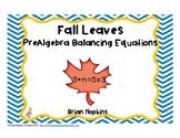 PreAlgebra Balancing Number Equations
