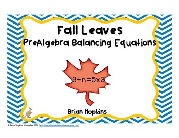 PreAlgebra Balancing Number Equations