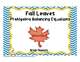 PreAlgebra Balancing Number Equations Fall Leaves