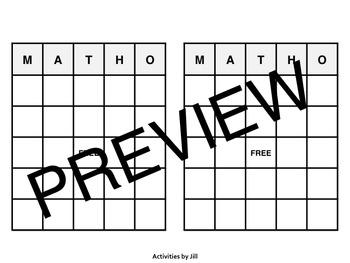 Pre-Algebra End of Year Review MATHO