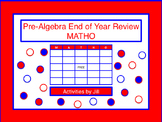 Pre-Algebra End of Year Review MATHO