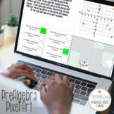 PreAlgebra Naming Plotting Coordinates Pixel Art