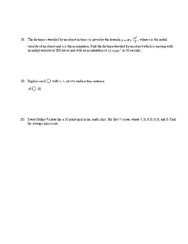 PreAlgebra Operations with Integers Chapter Review