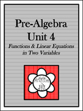 Pre-Algebra Curriculum - Unit 4: Functions and Linear Equations in Two Variables