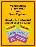 PreAlgebra Vocabulary Frayer Model Word Wall for Coloring (41 Terms)