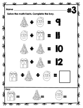 PreAlgebra style Addition Enrichment for Early Finishers Christmas Edition