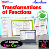 Transformations of Functions Interactive Digital Task Cards with GOOGLE slides™