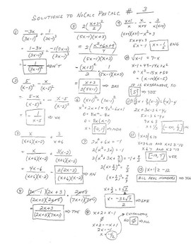 PreCalc Platitudinous Mathacrostics #3