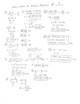 PreCalc NoCalc Mathacrostics #4 (Coordinate geometry, using tests of symmetry)